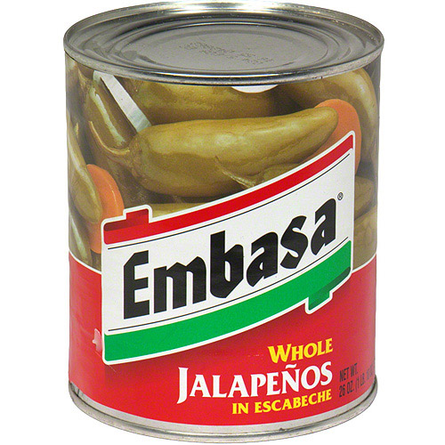 ***Discontinued by Kehe 07_20***Embasa Whole Jalapenos, 26 oz (Pack of 6)