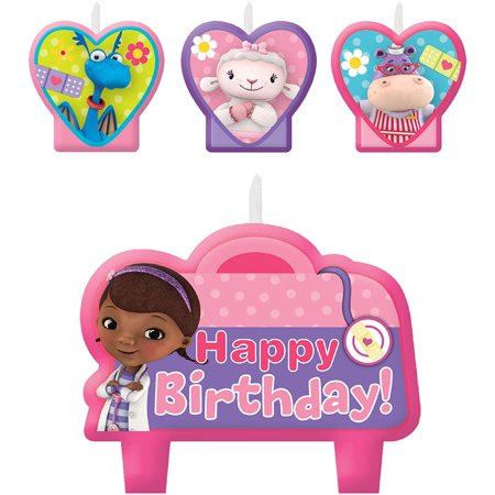 Birthday Party Cake Candles - 4ct, Package contains 4 Doc McStuffins Birthday Candles, ranging from 1in to 3in. By Doc McStuffins for $<!---->