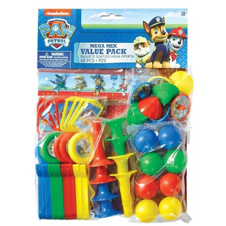 Amazing Paw Patrol Birthday Party Mega Mix Value Pack Favors (48 Pack), 11 1/2