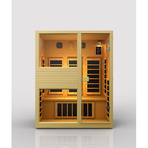 JNH Lifestyles Ensi 3 Person Carbon FAR Infrared Sauna by JNH Lifestyles