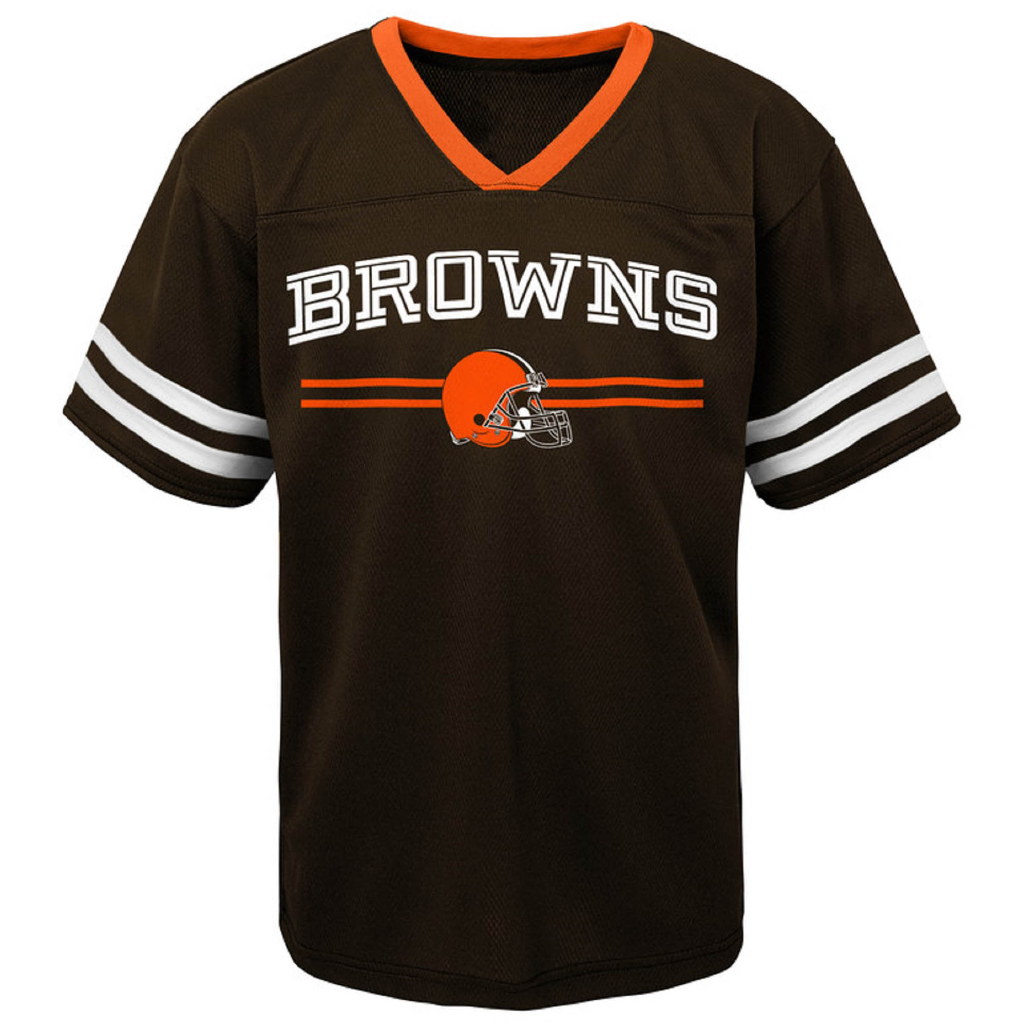 Toddler Brown Cleveland Browns Mesh Jersey V-Neck T-Shirt