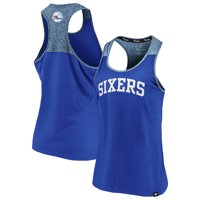 Philadelphia 76ers Fanatics Branded Women's Made to Move Static Performance Racerback Tank Top - Royal/Heathered Royal