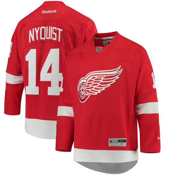 Men's Detroit Red Wings Gustav Nyquist Reebok Red Home Premier Player Jersey