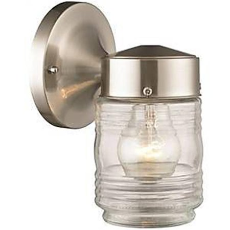 Int Satin - Soundbest Int Sourceing 4073821 4402H-BN Light Jelly Jar, Satin Nickel
