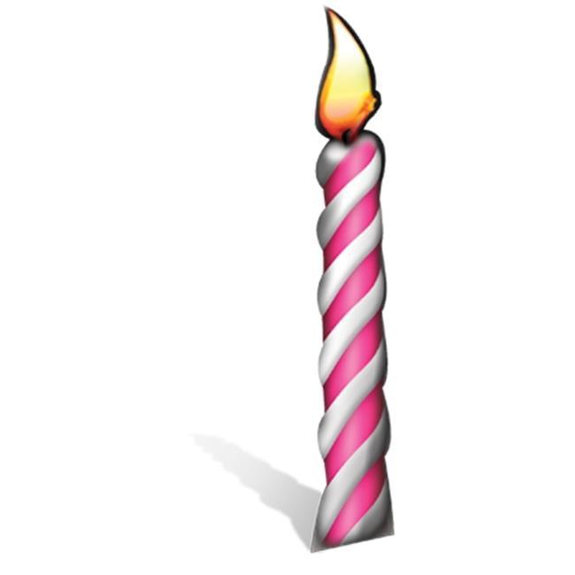 BIRTHDAY CANDLE LIFESIZE CARDBOARD CUTOUT GROUP