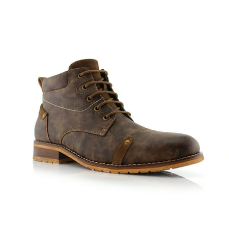 Ferro Aldo Colin MFA806033 Brown Color Men's Stylish Mid Top Boots For Work or Casual - Stylish Footwear
