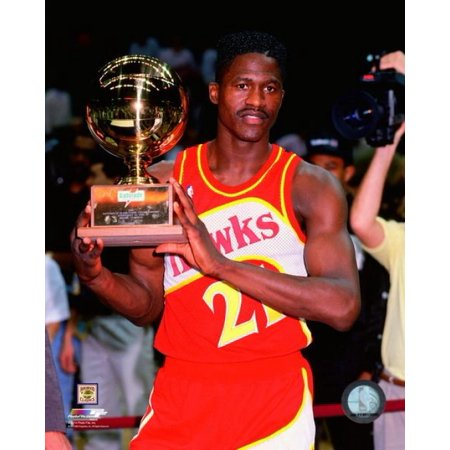 Dominique Wilkins Nba (Dominique Wilkins with the 1990 NBA Slam Dunk Contest Trophy Photo)