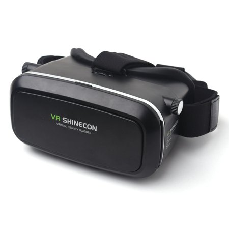 3D Virtual Reality VR 3rd Gen Glasses Box Headset Bluetooth Remote Control for iPhone Android