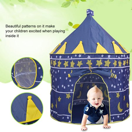 Large Size Foldable Moon And Stars Surface Kids Baby Children Entertainment Gaming Playing Hanging Toy Tent
