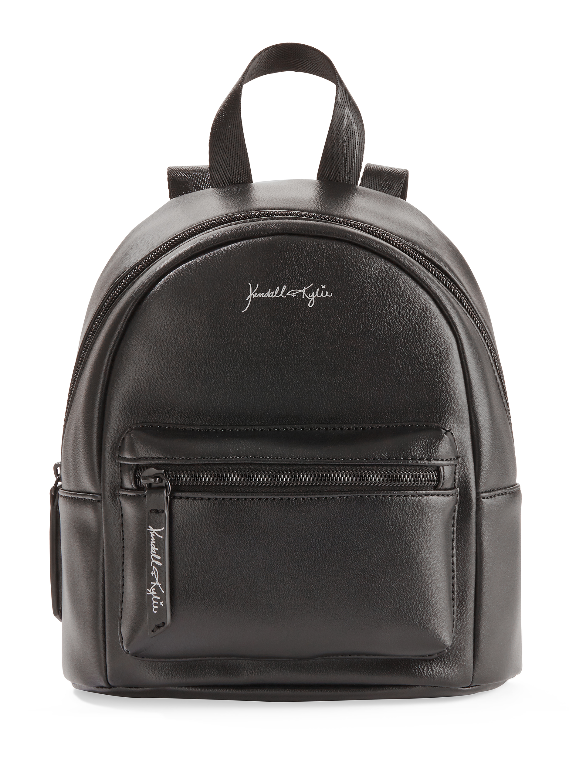 Kendall + Kylie for Walmart Black Faux Leather Mini Backpack