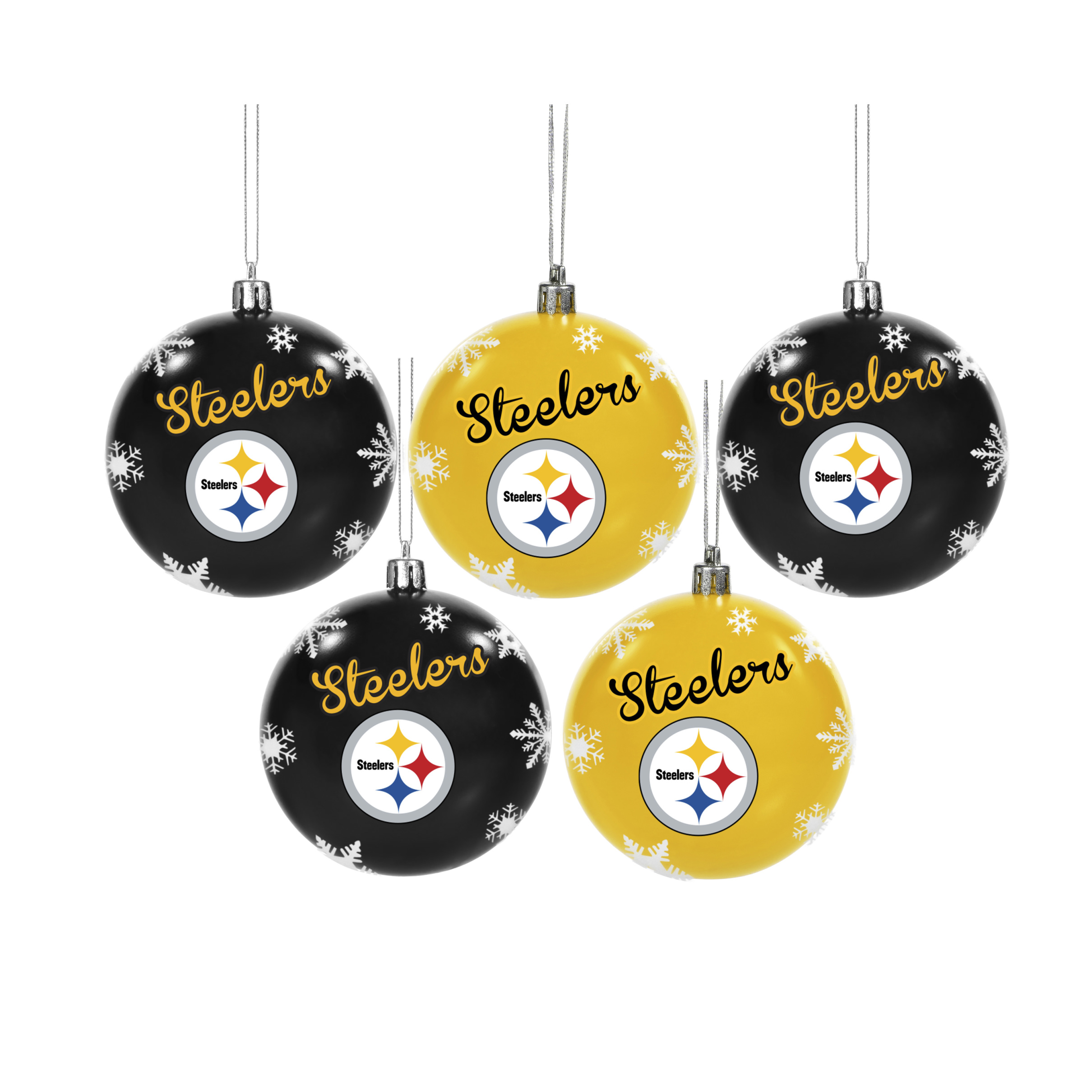 Steelers Christmas Ornaments.Forever Collectibles Pittsburgh Steelers Nfl 5 Pack