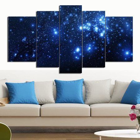- 5 Panels Framed Strange Star Canvas Print Wall Art Picture Home Decoration Living Room Landscape Oil Painting On Canvas
