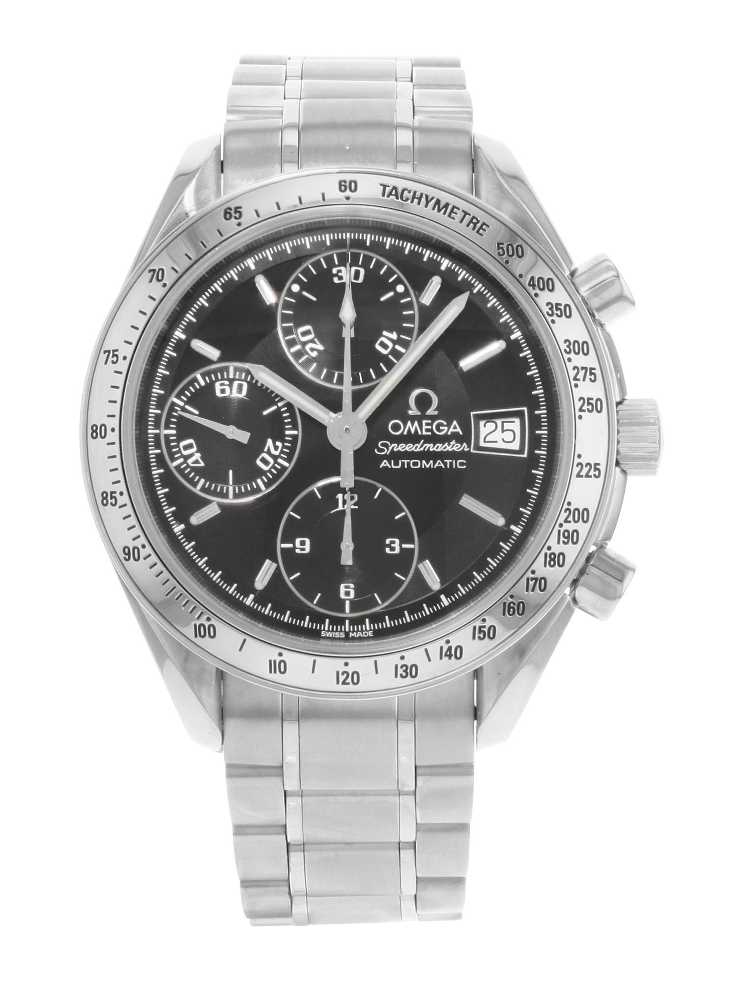 Omega Speedmaster Chrono Black Dial Steel Automatic Mens Watch 3513.50.00