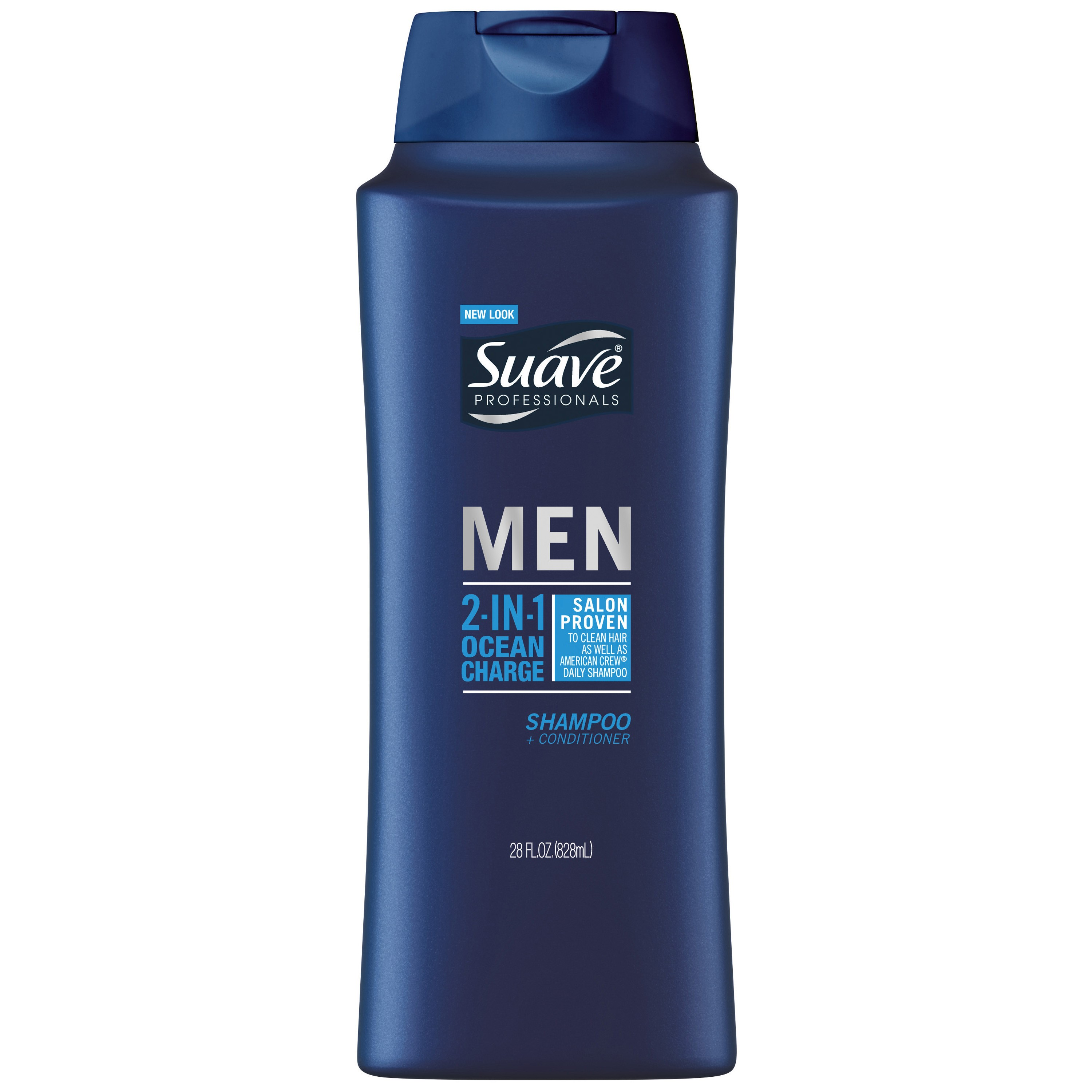 Suave Men 2-in-1 Shampoo & Conditioner, Ocean Charge, 28 Oz