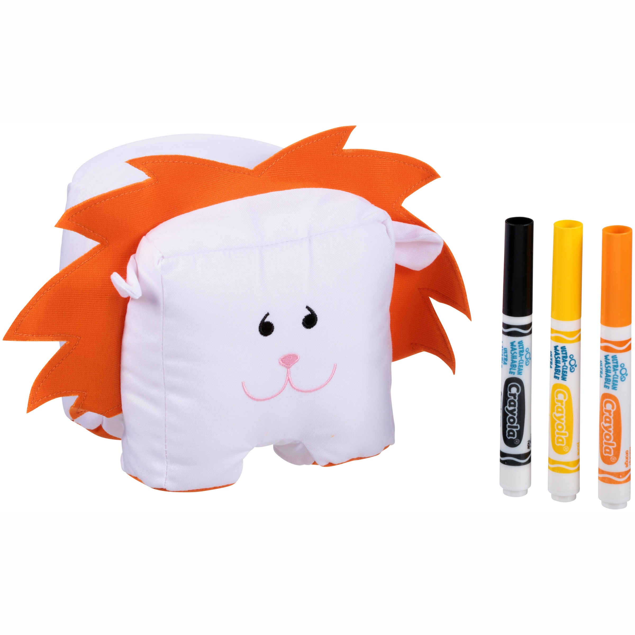 Crayola Doodlemals Scribbles the Lion Colorable Toy Set 4 pc Pacl by Crayola