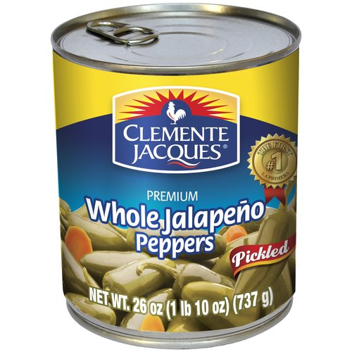 Clemente Jacques Pickled Whole Jalapeno Peppers, 26 oz
