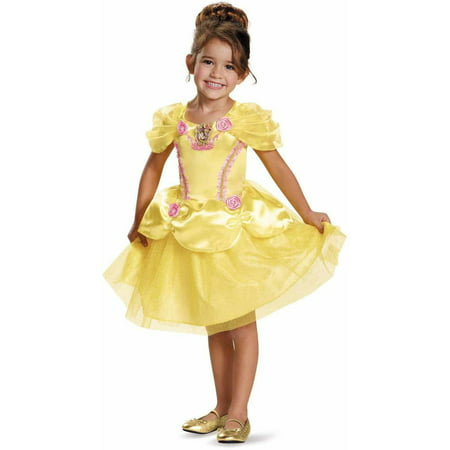 Beauty and the beast belle classic child halloween costume 3-4t