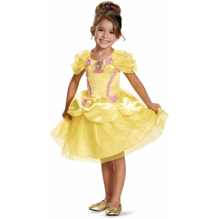 Disney Princess Belle Classic Toddler Halloween Costume](Plus Size Halloween Costumes Disney Princess)