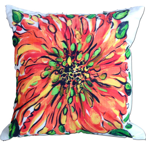 My Island Blossom Cotton Throw Pillow