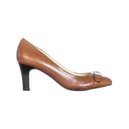 Lauren Ralph Lauren Saffron Buckle Kitten Heels, Polo Tan - image 1 de 6