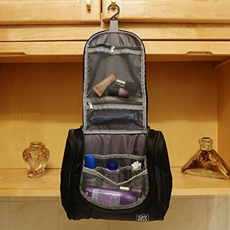 Toiletry Bag For Men & Women - Hanging Toiletries Kit For Makeup, Cosmetic, Shaving