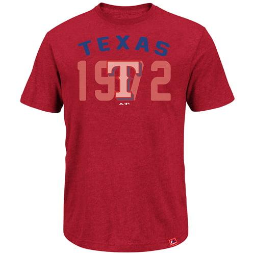 Texas Rangers Majestic Three Base Hit T-Shirt - Red