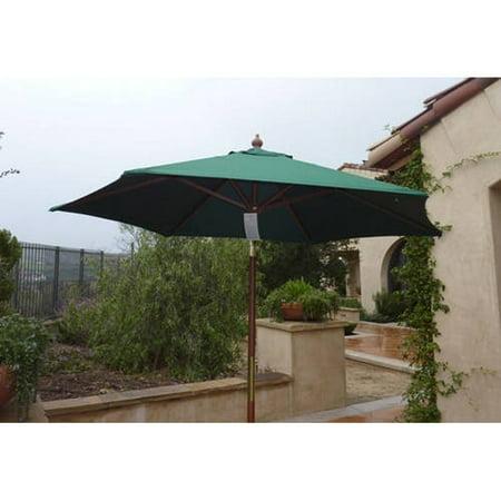 Formosa Covers 7ft wood market umbrella Tilt mechanism - Gre