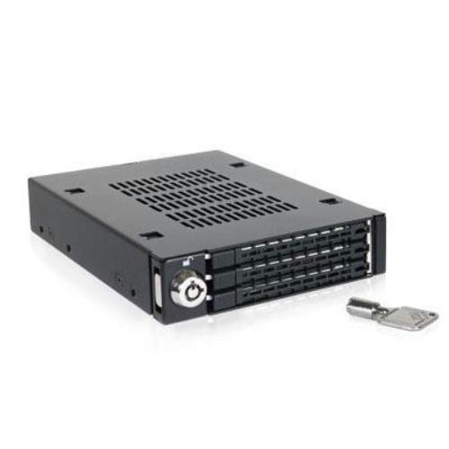 """Icy Dock Tougharmor Mb993sk-b Drive Enclosure Internal - Matte Black - 3 X Total Bay - 3 X 2.5"""" Bay - Serial Ata/600 - Serial Ata/600 - Metal - 3.5"""" (mb993sk-b)"""