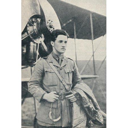 Albert Ball, British First World War pilot and recipient of the Victoria Cross, c1917 Print Wall Art