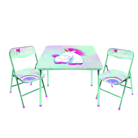 Fluffy the Unicorn 3 Piece Table and Chair Activity