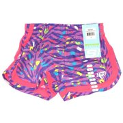Skechers Girls Size 4 Active Mesh Shorts Pink & Purple Zebra with Dots