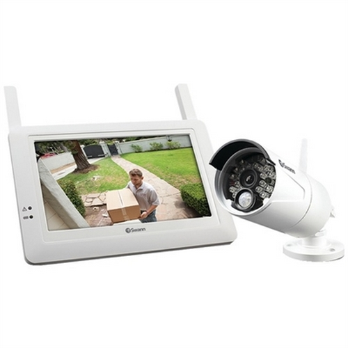 Refurbished Swann SWADW-410KIT-US ADW-410 Digital Wireless Security System Monitor and Camera Kit (White)