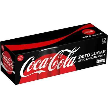 Coca Cola Zero Sugar Soda  12 Fl Oz  12 Count