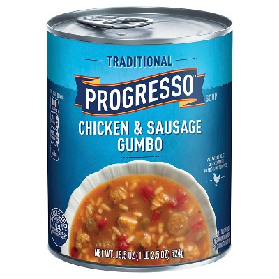 Progresso Traditional Chicken & Sausage Gumbo Soup 19 oz (Pack of 6) by