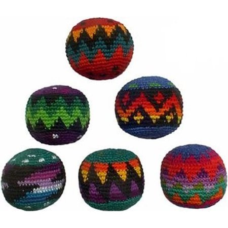 Hacky Sacks- Set of 6 Assorted Colors (Best Hacky Sack For Beginners)