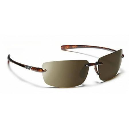 Image of 7 Eye Flip Sunglasses, Dark Tortoise Frame, 24 - 7 NXT Contrast Lens