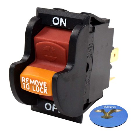 HQRP On-Off Toggle Switch for Delta 22-540 23-655 23-675 28-150 28-195 28-560 31-325 36-977 36-978 36-979 36-980 36-981 36-982 37-275X 37-380 Power Tools, Planer, Band Saw, Grinder + HQRP Coaster ()