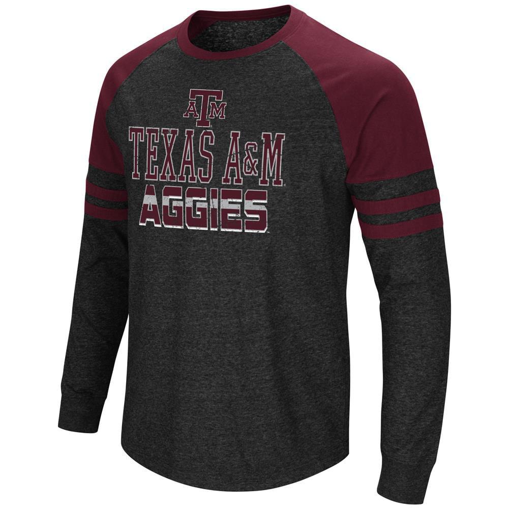 Texas A&M Aggies Long Sleeve Shirt Hybrid Raglan Tee