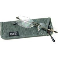 Foster Grant Men's T20 +1.75 Reading Glasses, Gunmetal