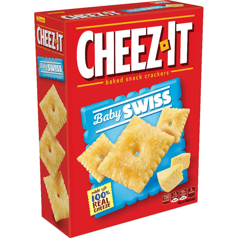 Cheez-It Baby Swiss Baked Snack Crackers, box of 12.4 oz