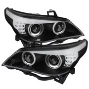 Spyder BMW E60 5-Series ( D2S HID ) 04-07 Projector Headlights - Factory Xenon Model Only ( Not Compatible With Halogen Model ) - CCFL Halo - Black -
