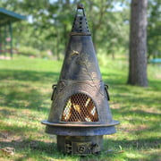 Outdoor Chimenea Fireplace - Garden in Gold Accent Finish (Without Gas)