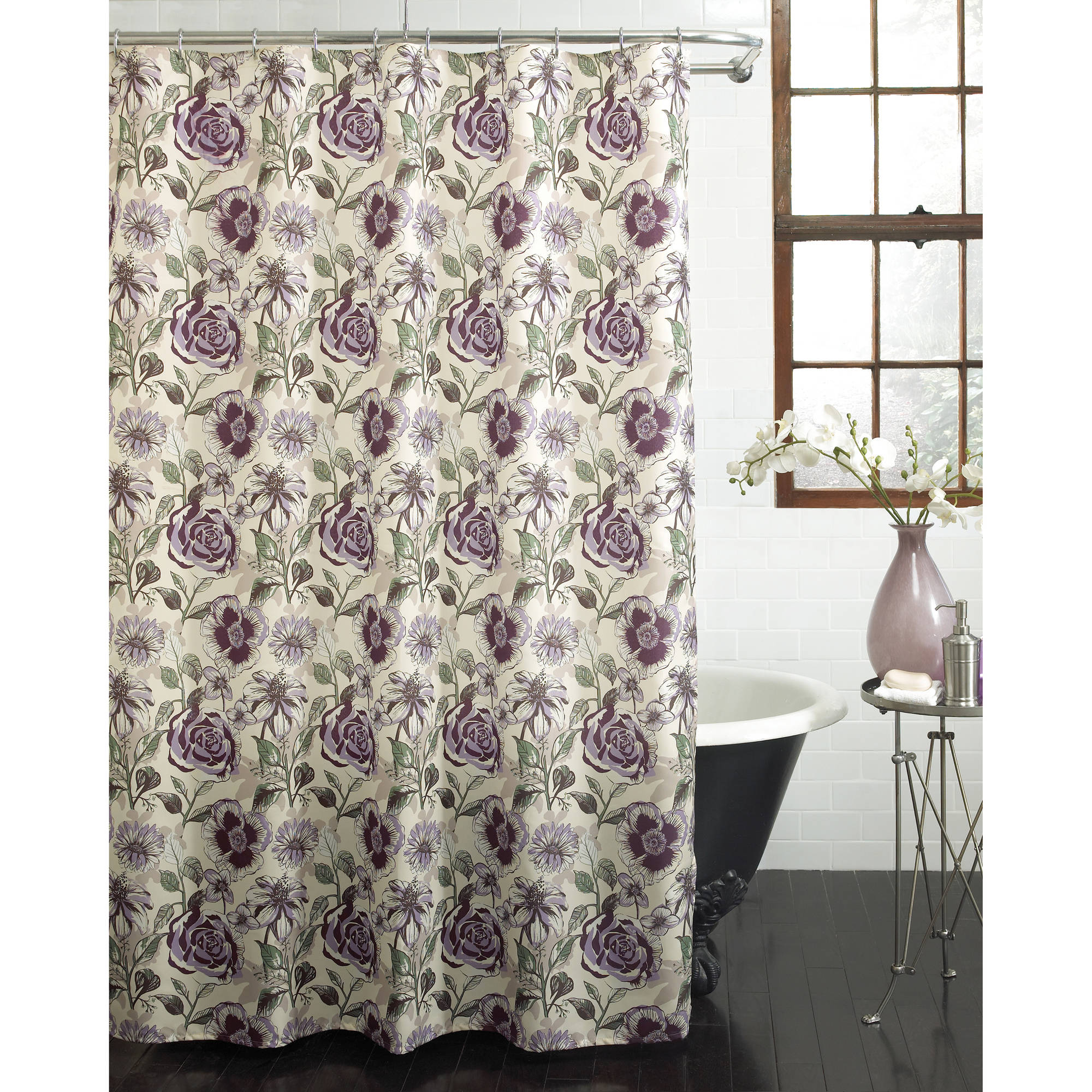 "Excell Suzanna 70"" x 72"" Fabric Shower Curtain, Multi-Colored"