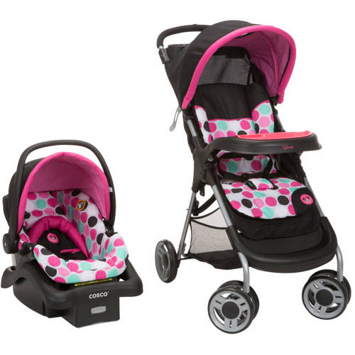 Disney Baby Lift and Stroll Travel System, Black Minnie Dottie
