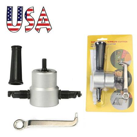 Duty Cutting Attachments (Double Head Sheet Metal Nibbler Saw Cutter Cutting Tool Power Drill)