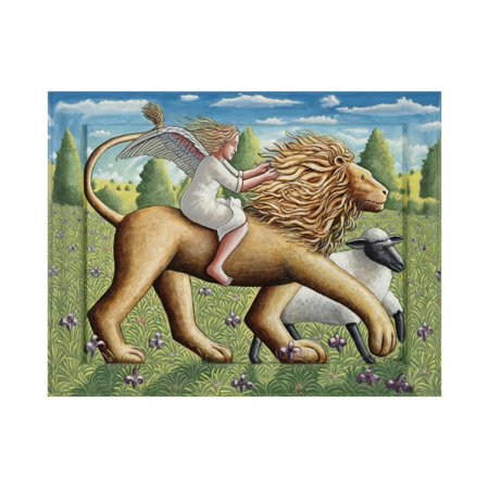 The Lion, the Lamb and the Angel, 2007 Print Wall Art By P.J. Crook