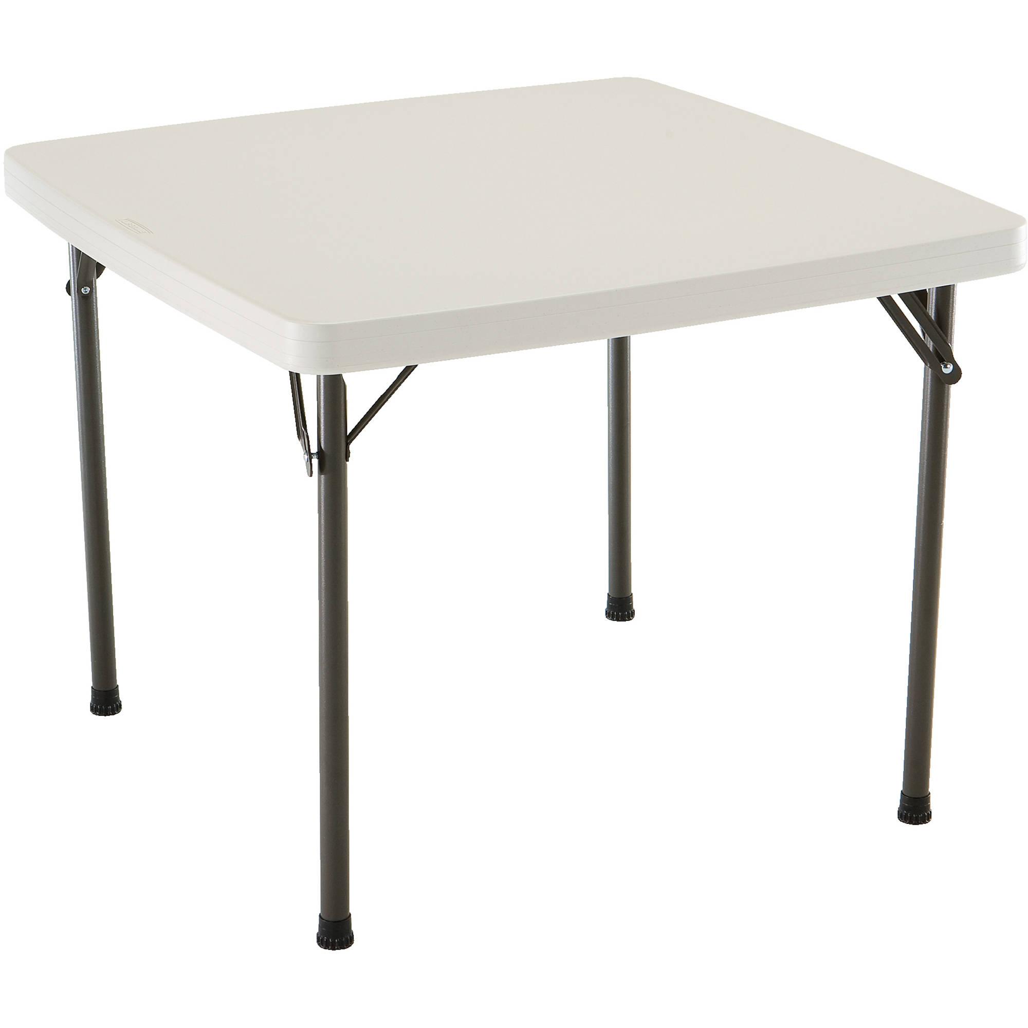 Lifetime 37 Quot Folding Square Table Almond Walmart Com