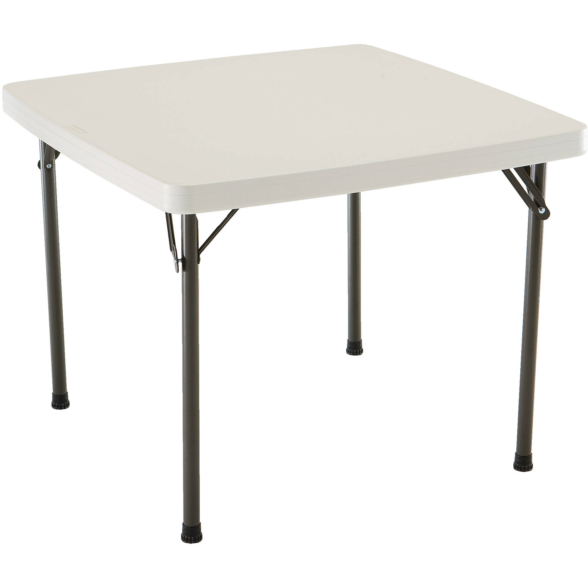 lifetime folding tables lifetime 37 quot square folding table walmart 28659