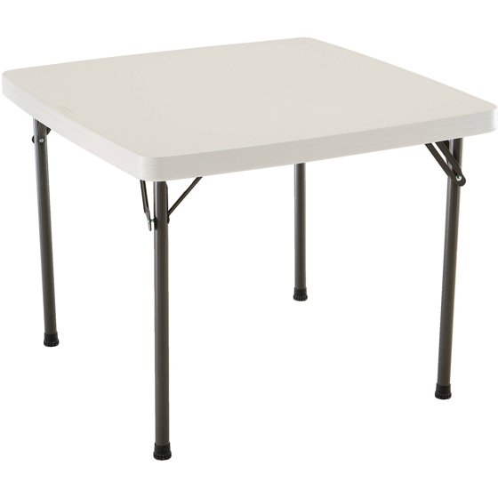 "Table Walmart: Lifetime 37"" Square Folding Table"
