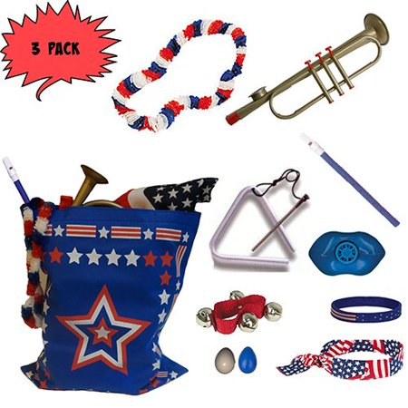 Labor Day Picnic   Parade Pack For Kids  Music   Fun Pack D  X3